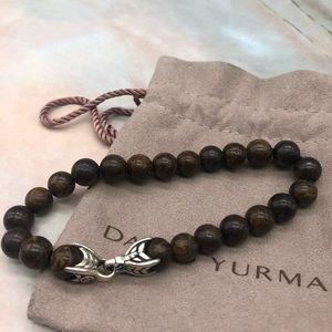 David Yurman beaded bronzite bracelet